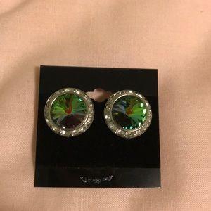 NWOT-Iridescent Rhinestone Earrings